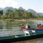 Nam Song River in Vang Vieng