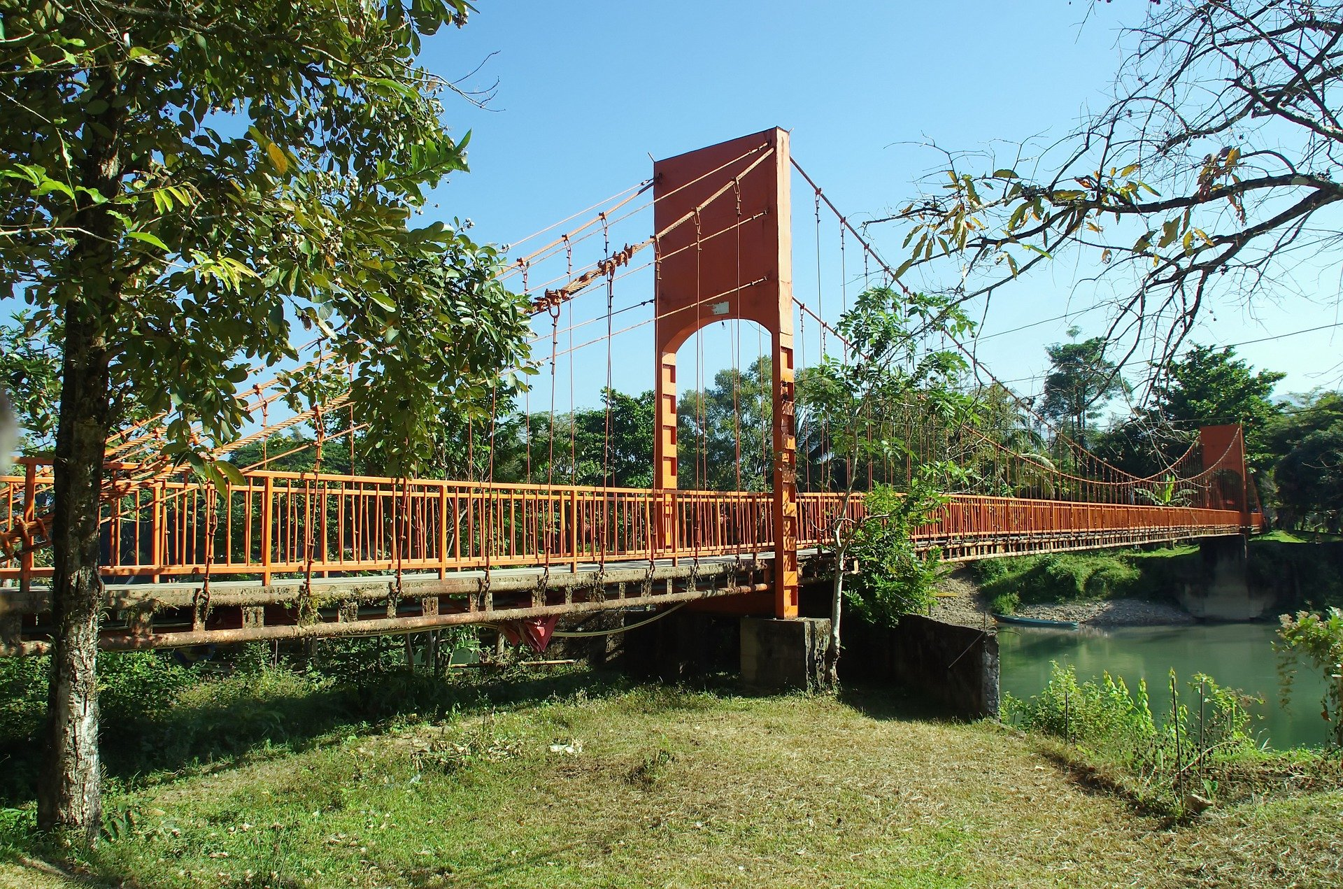 Vang Vieng Suspension Bridge