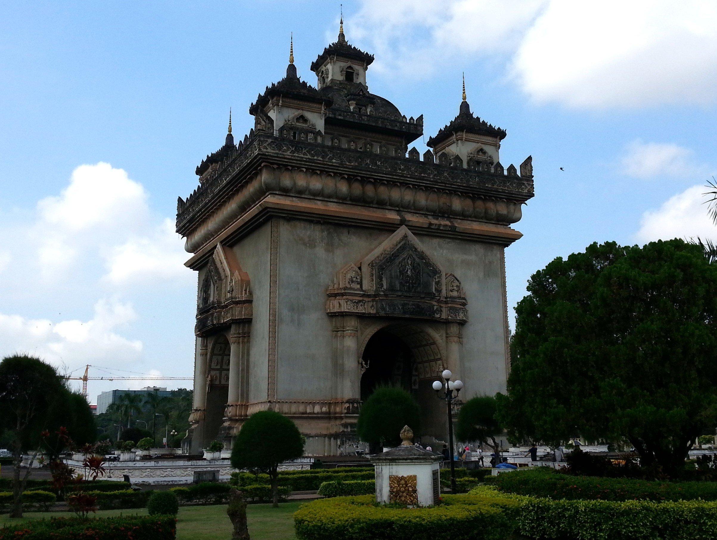 The Patuxai Monument in Vientiane, Laos