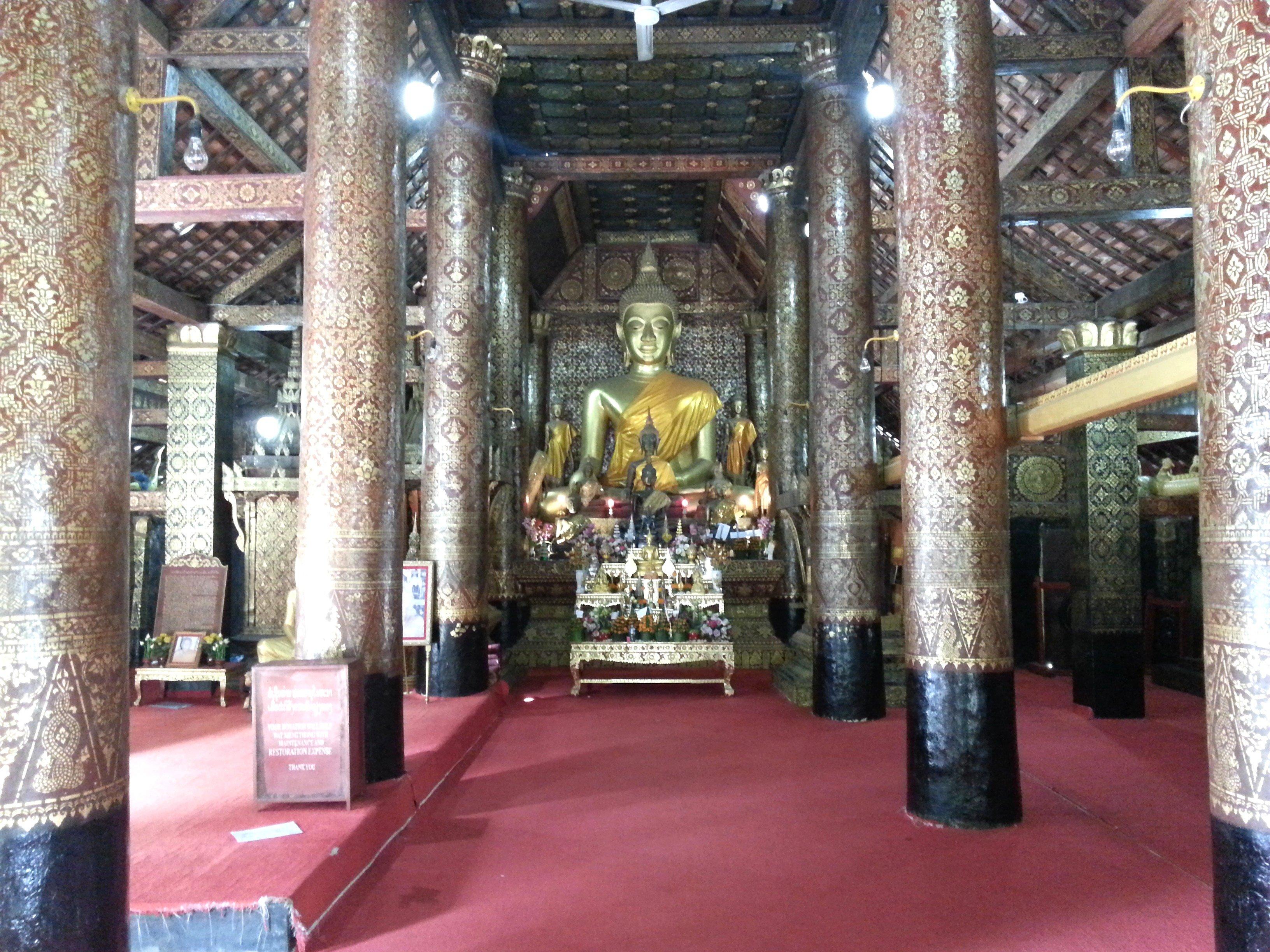 Buddha shrine at Wat Xieng Thong