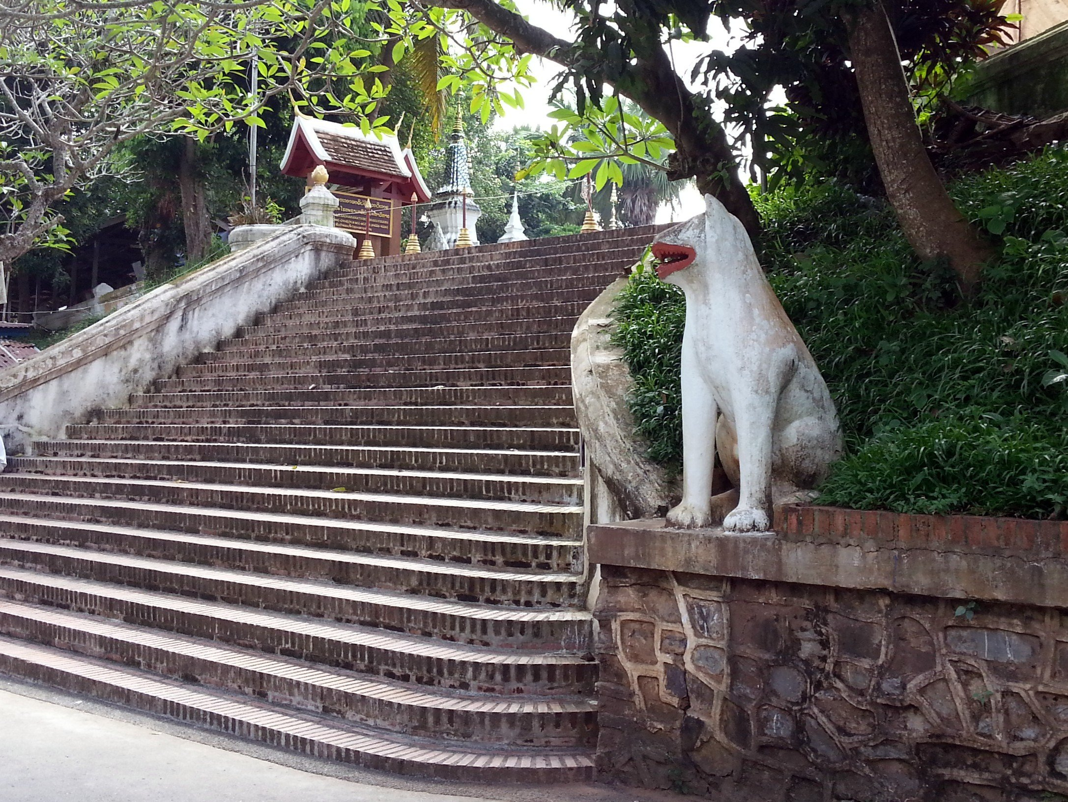 Entrance stairs to Wat Xieng Thong