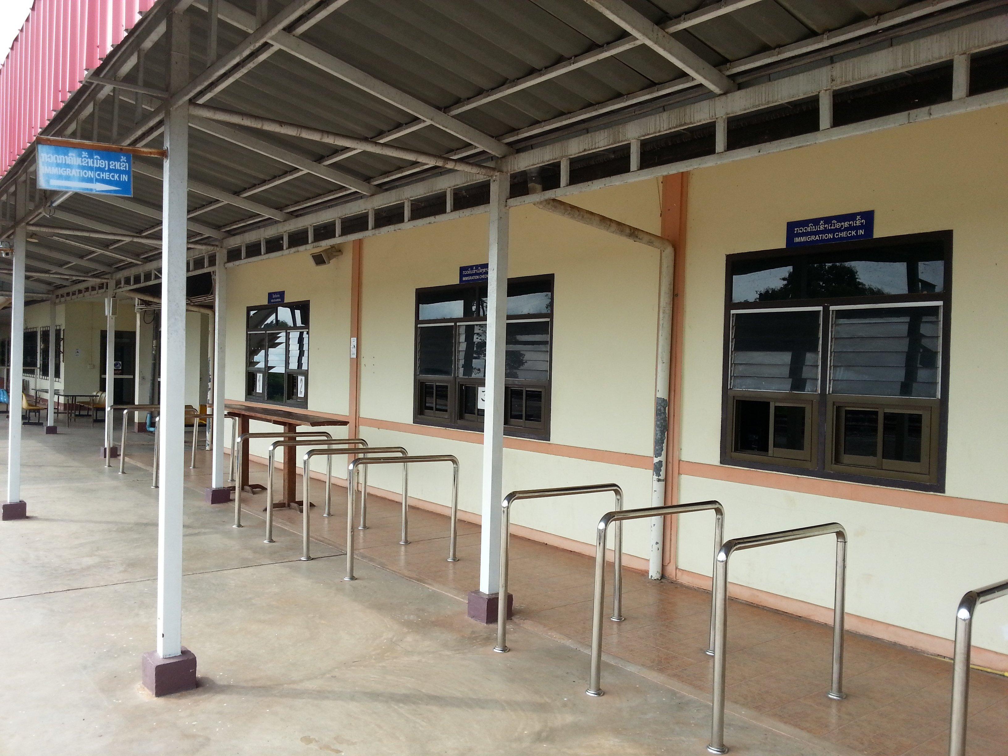 Passport control for entering Laos