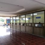 Passport control for exiting Laos