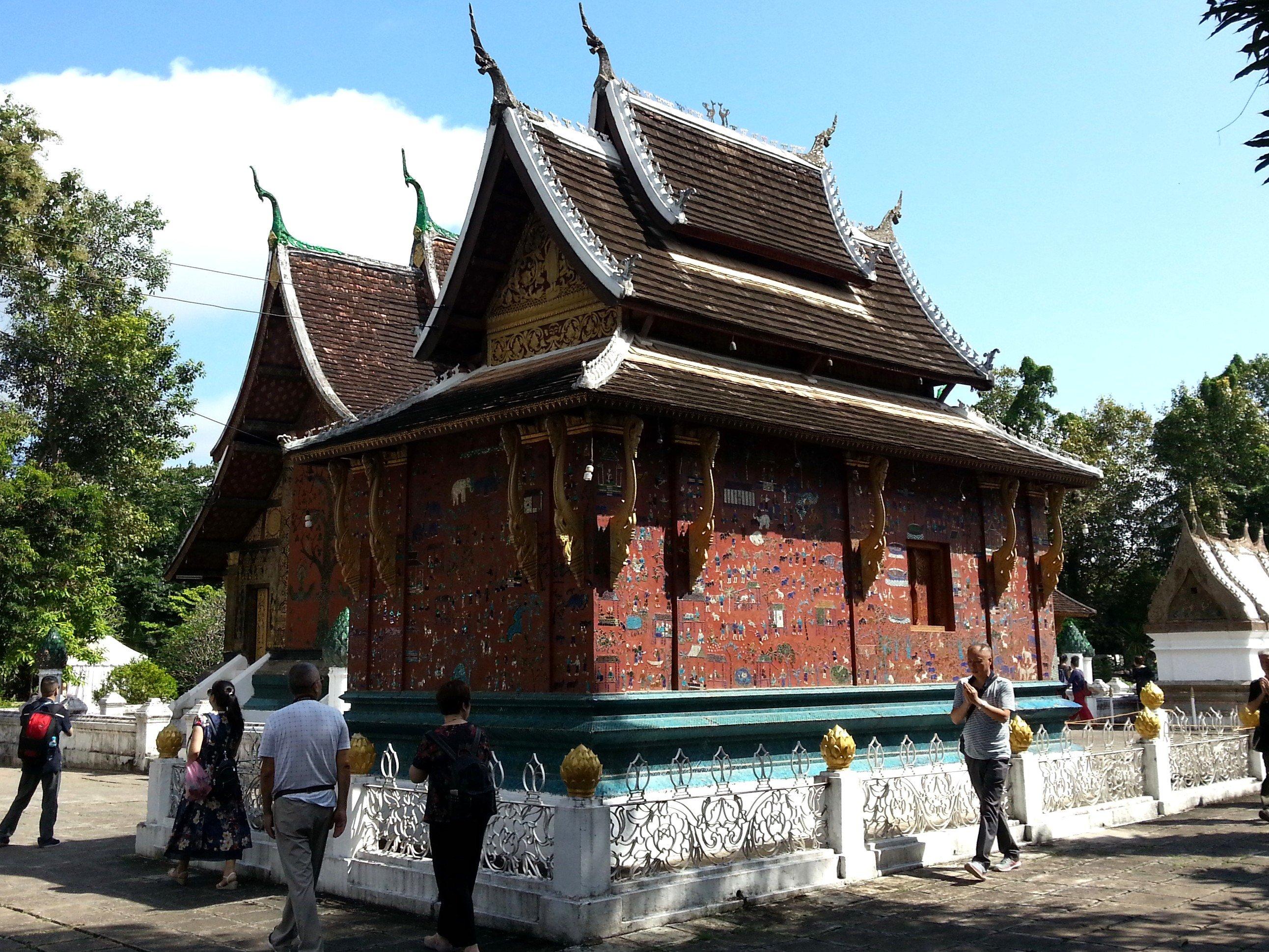 The Red Chapel at Wat Xieng Thong