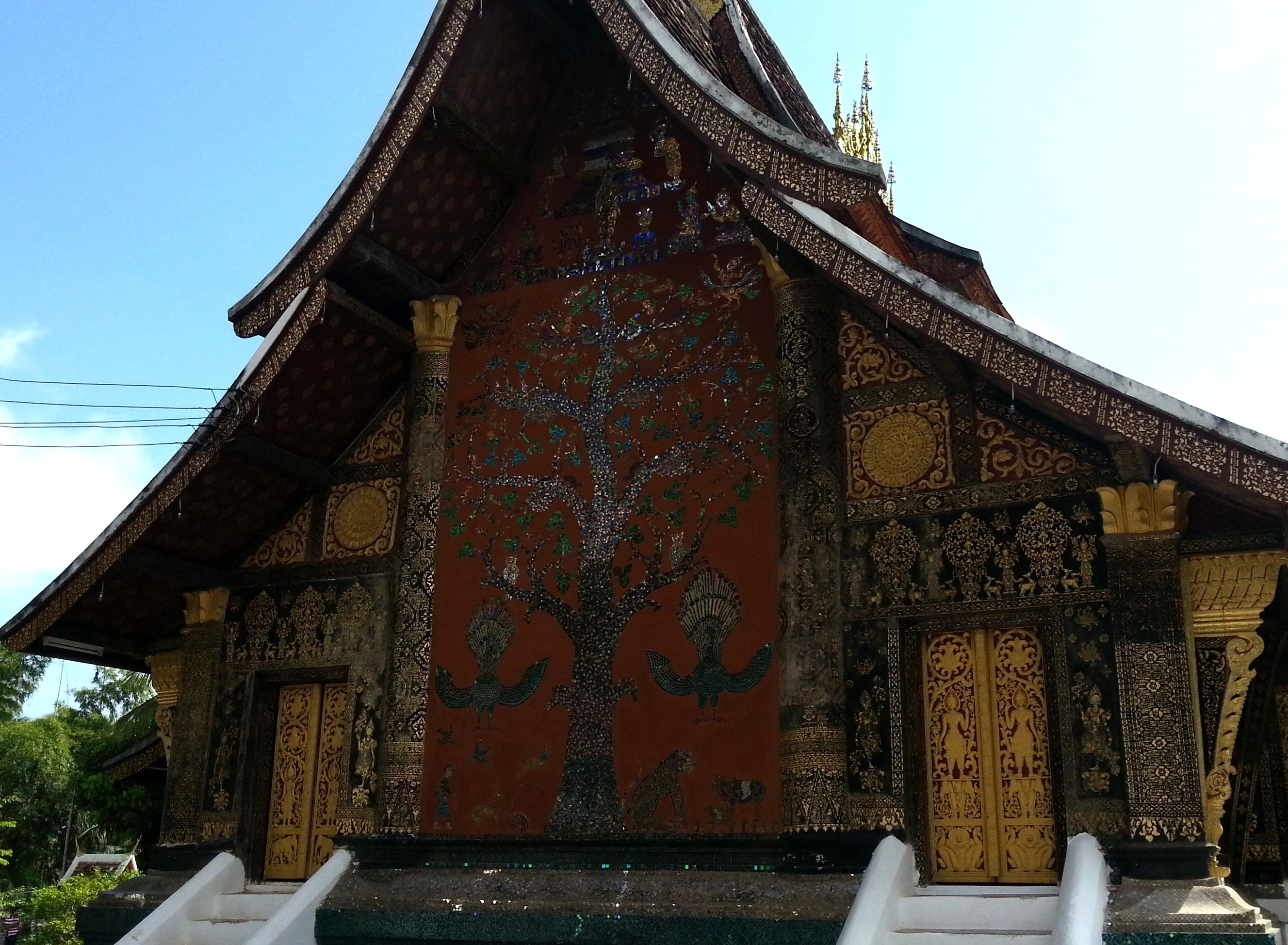 Tree of life mural at Wat Xieng Thong