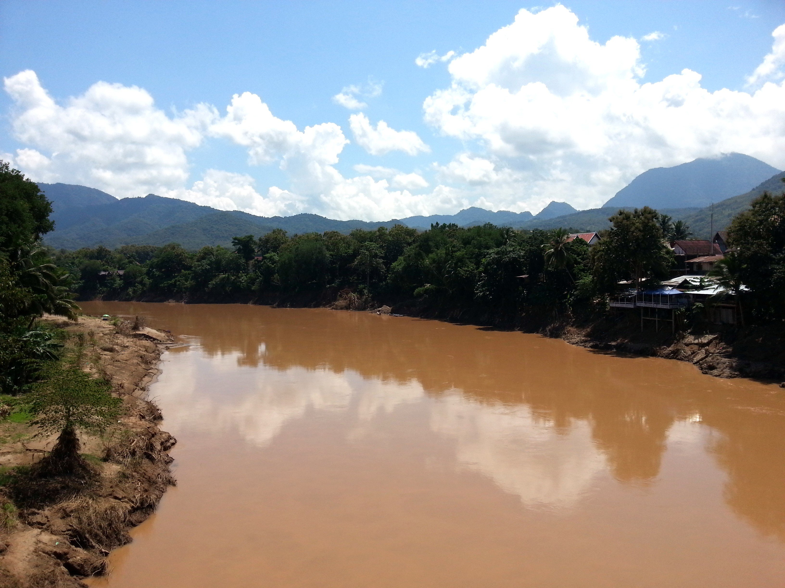View from the Old Bridge in Luang Prabang