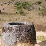Ancient stone jars in Xiangkhouang Province