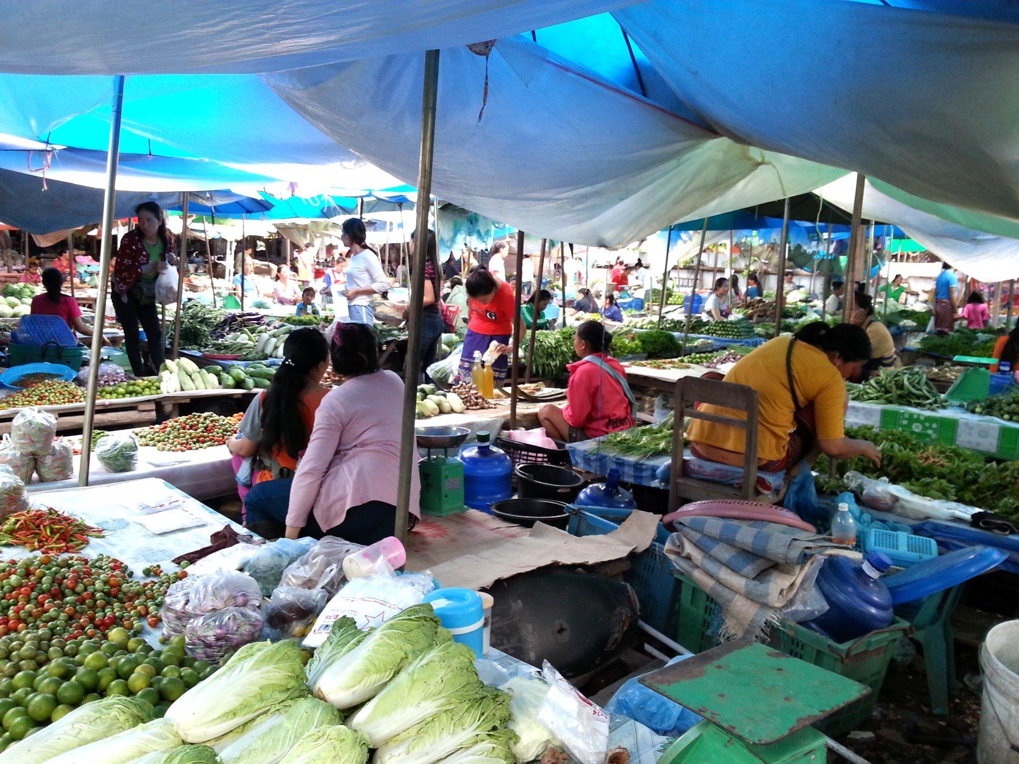 Vegetables at Xayaboury Market