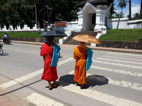 Buddhist monks in Laos