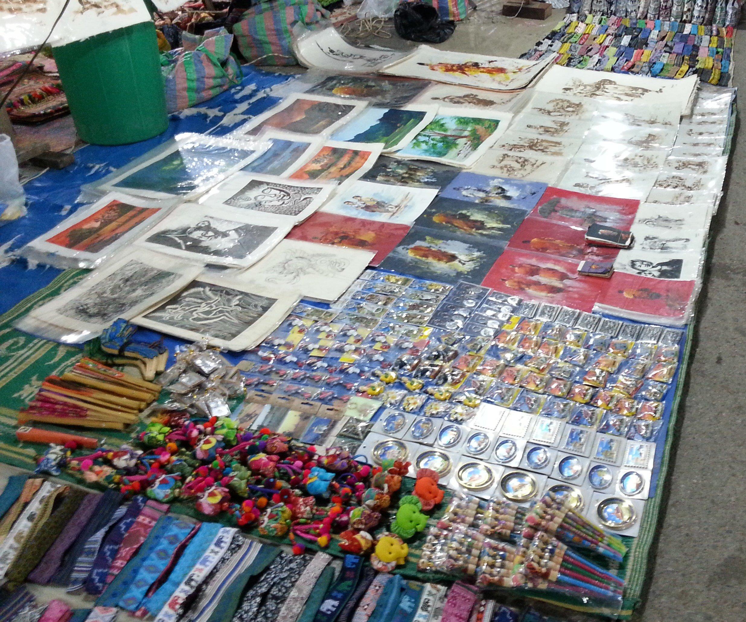 Local handicrafts at Luang Prabang Night Market