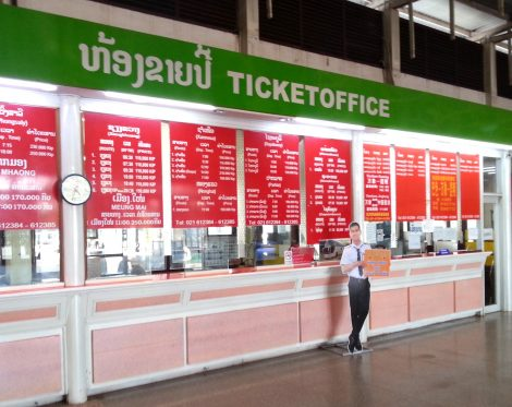 Ticket counters at Vientiane Northern Bus Terminal