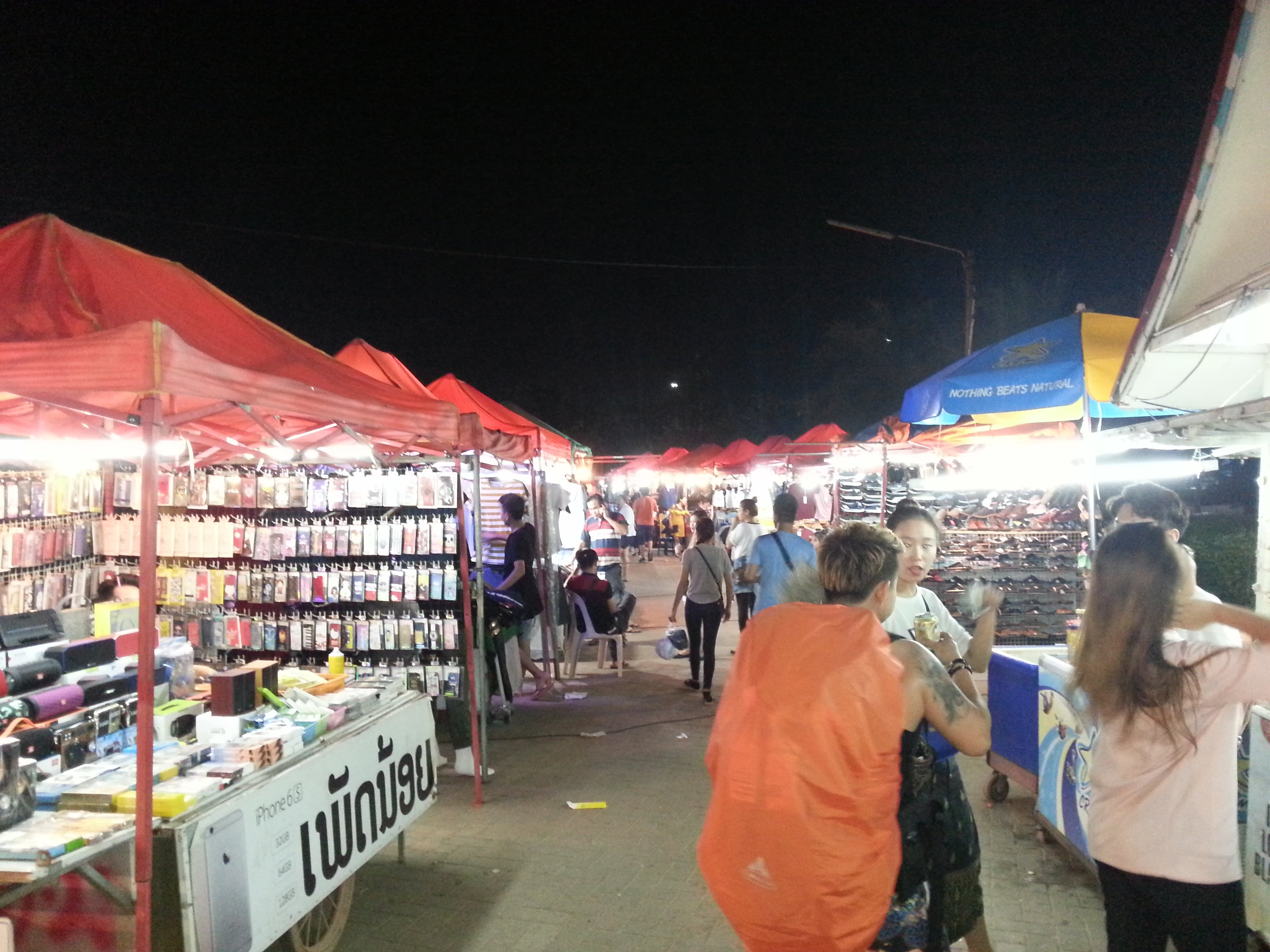 More stalls in Vientiane Night Market