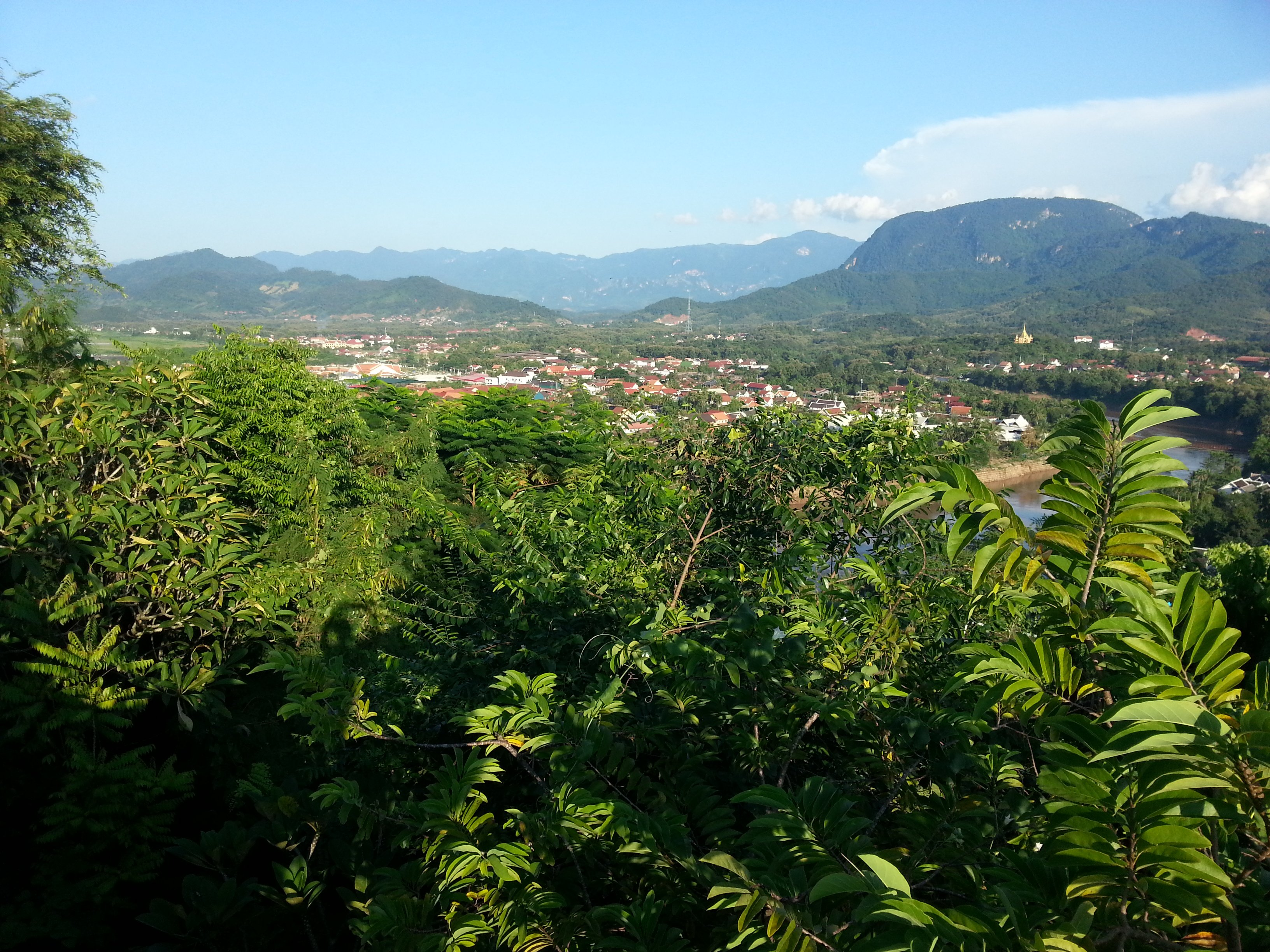 View to the south east of Phou Si Hill