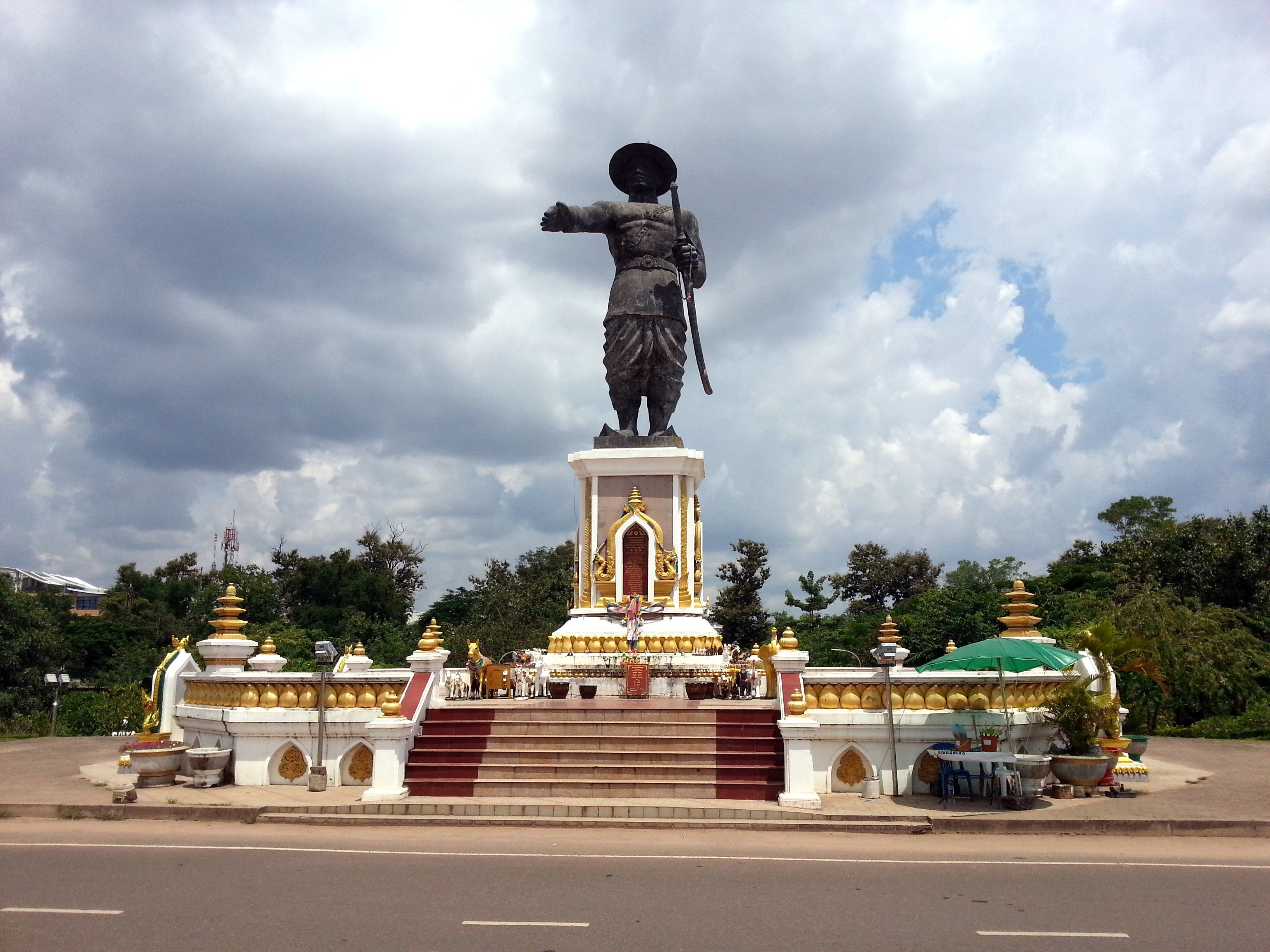Chao Anouvong Statue in Vientiane