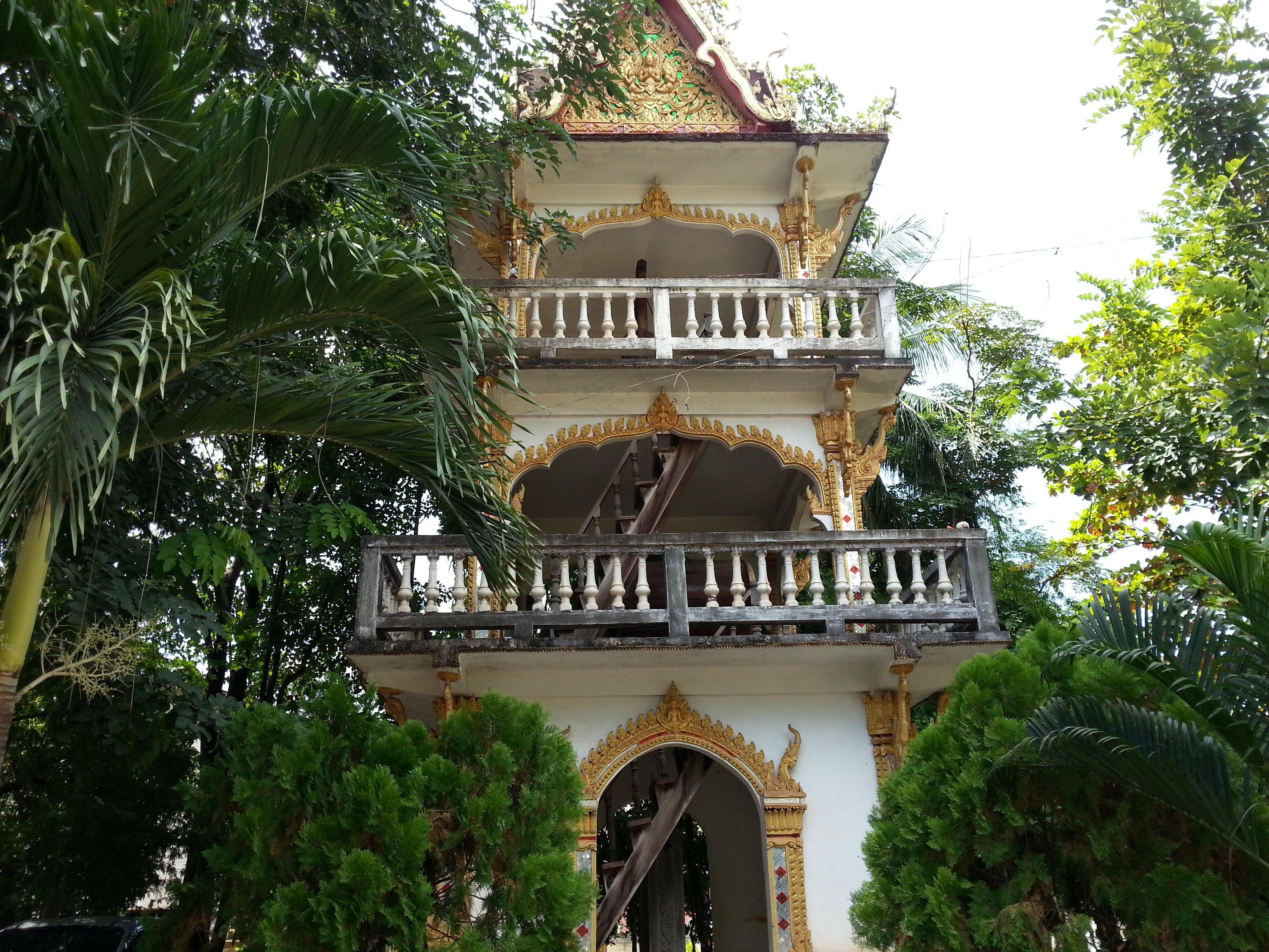Drum tower at Wat Ong Teu