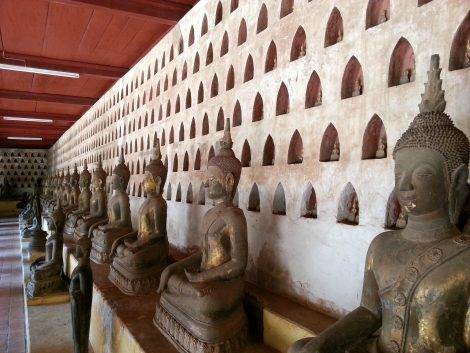 Large Buddha statues at Wat Si Sa Ket