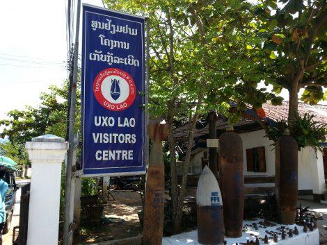 Entrance to UXO Lao Visitors Centre