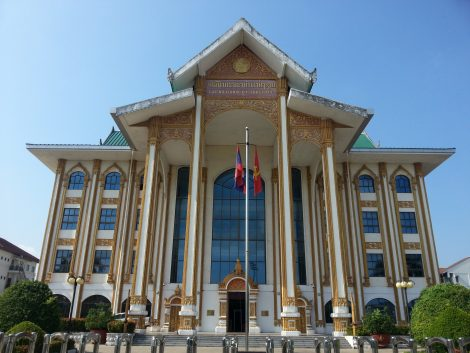 Lao National Cultural Hall in Vientiane