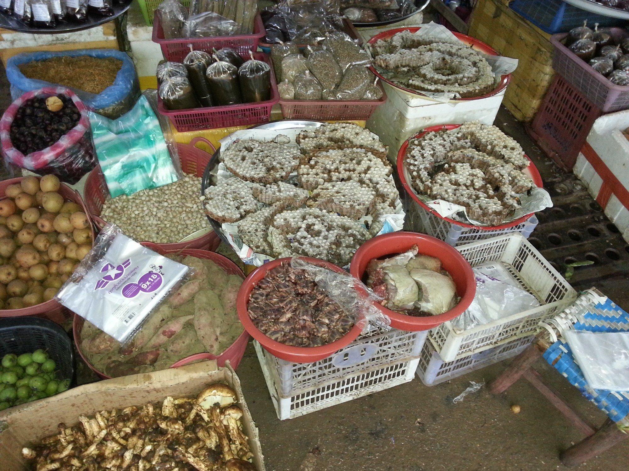 Honey on sale at Phoukam Garden Agriculture Wet Market