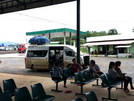 Most services at Muang Ngeun Bus Station are by minivan