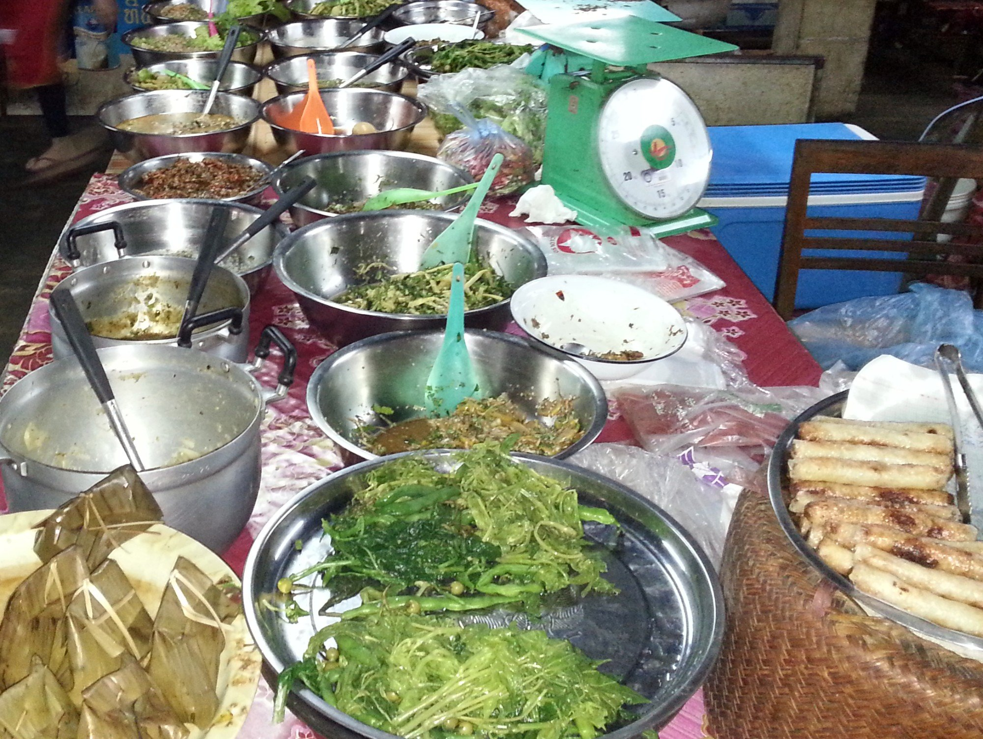 Take away food at Phoukam Garden Agriculture Wet Market