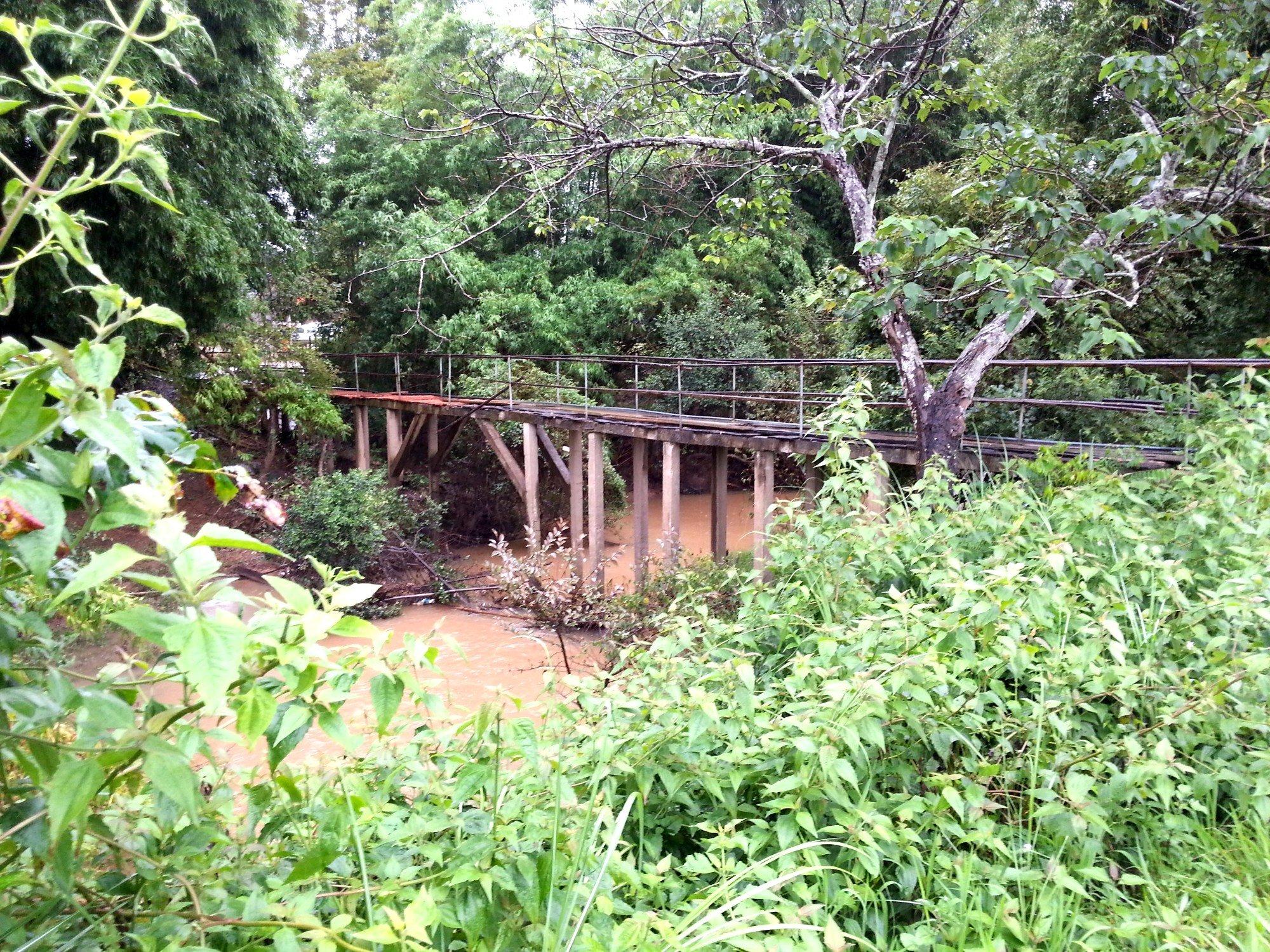 Bridge to cross on the way to Jar Site 3
