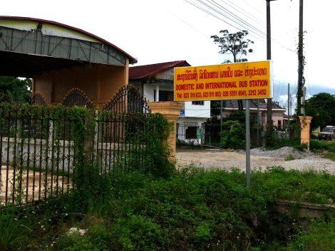 Entrance to Vang Vieng South Bus Terminal