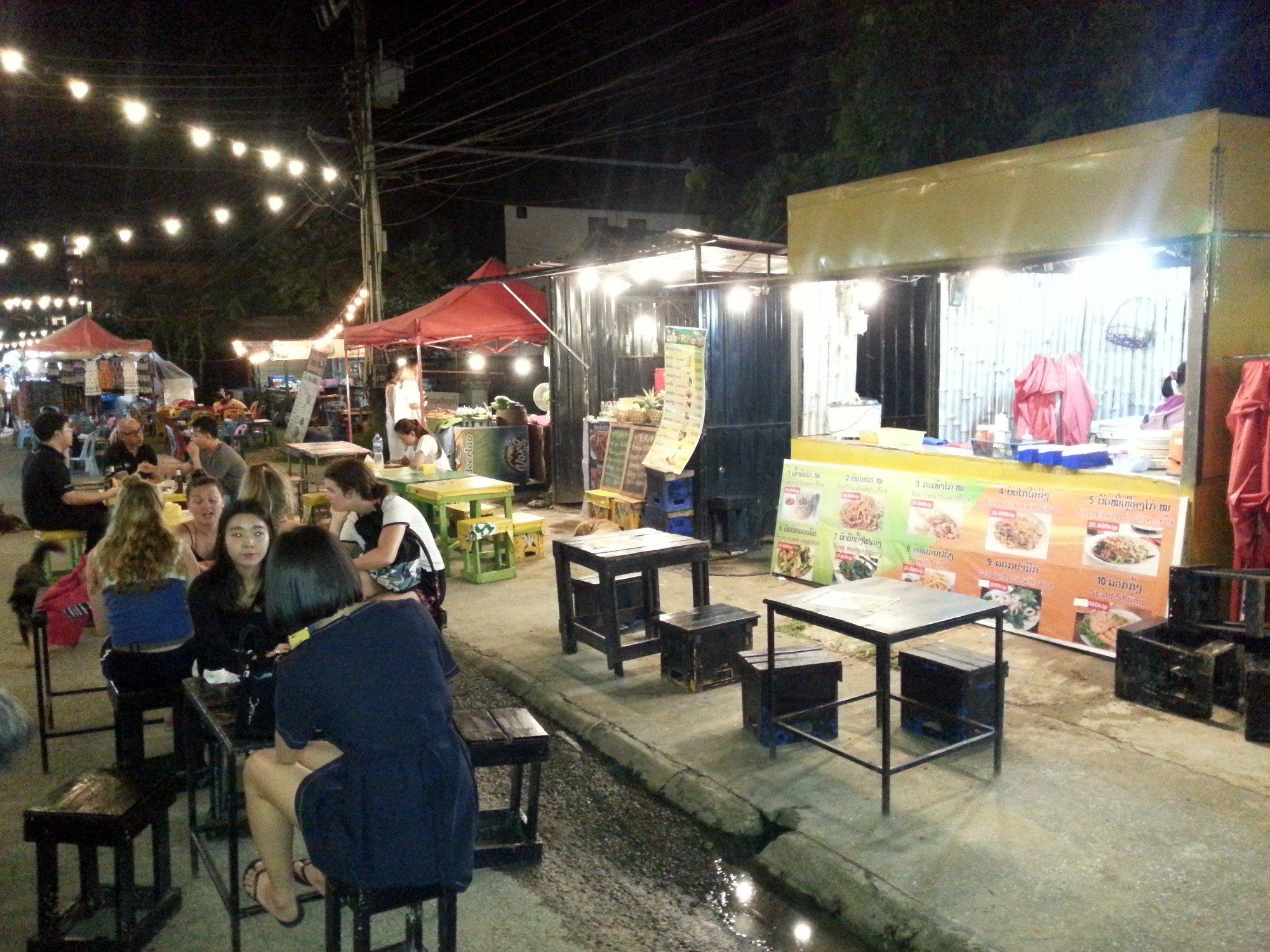 Food stalls on Walking Street