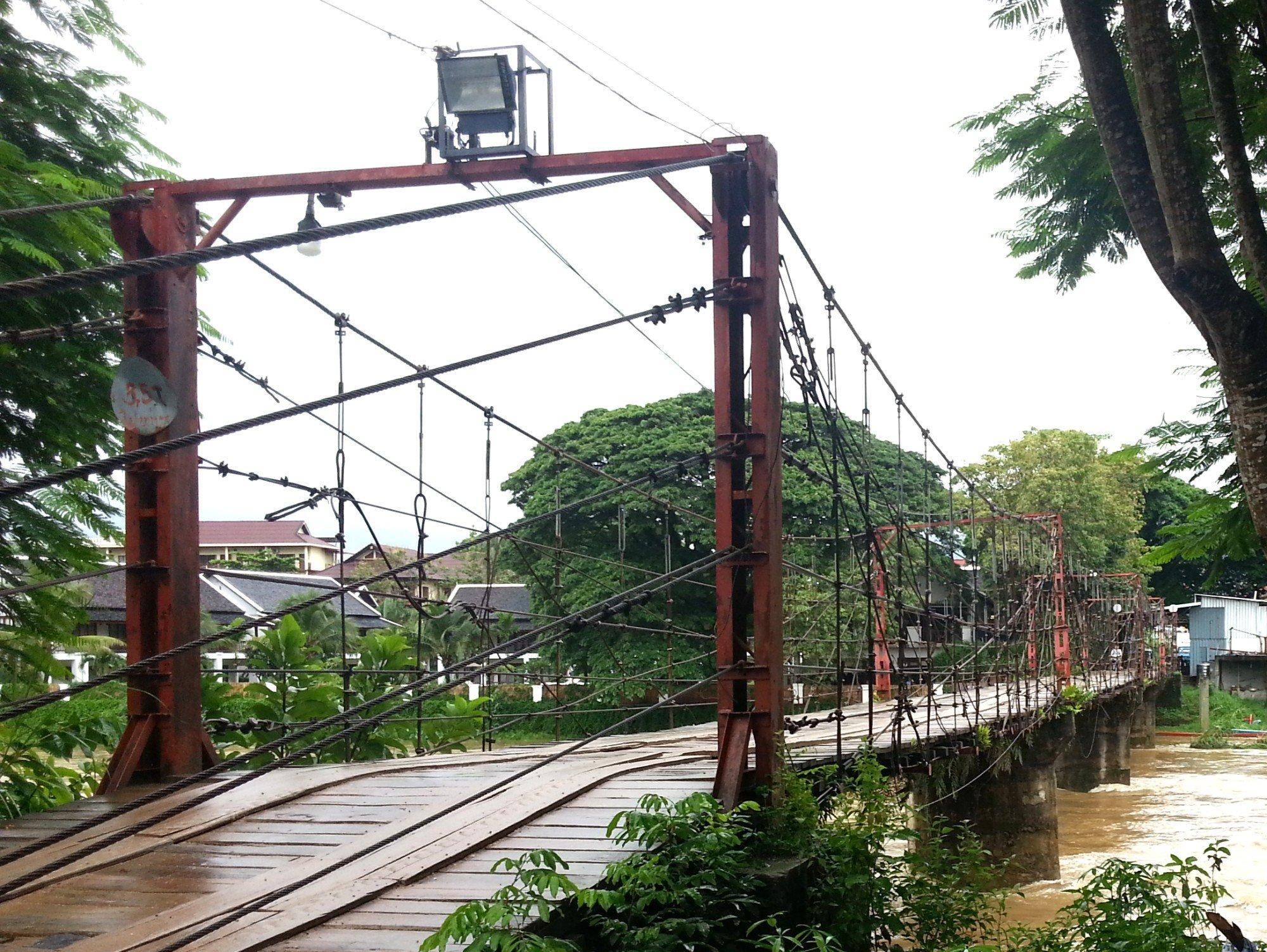 Namsong Bridge in Vang Vieng