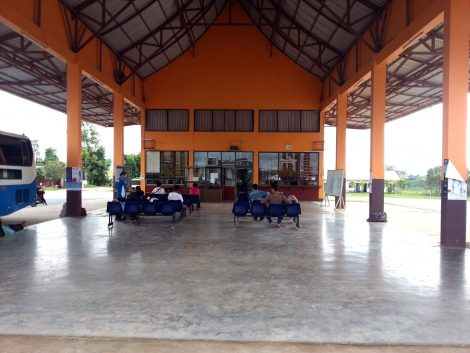 Waiting area at Xiengkhouang Bus Station