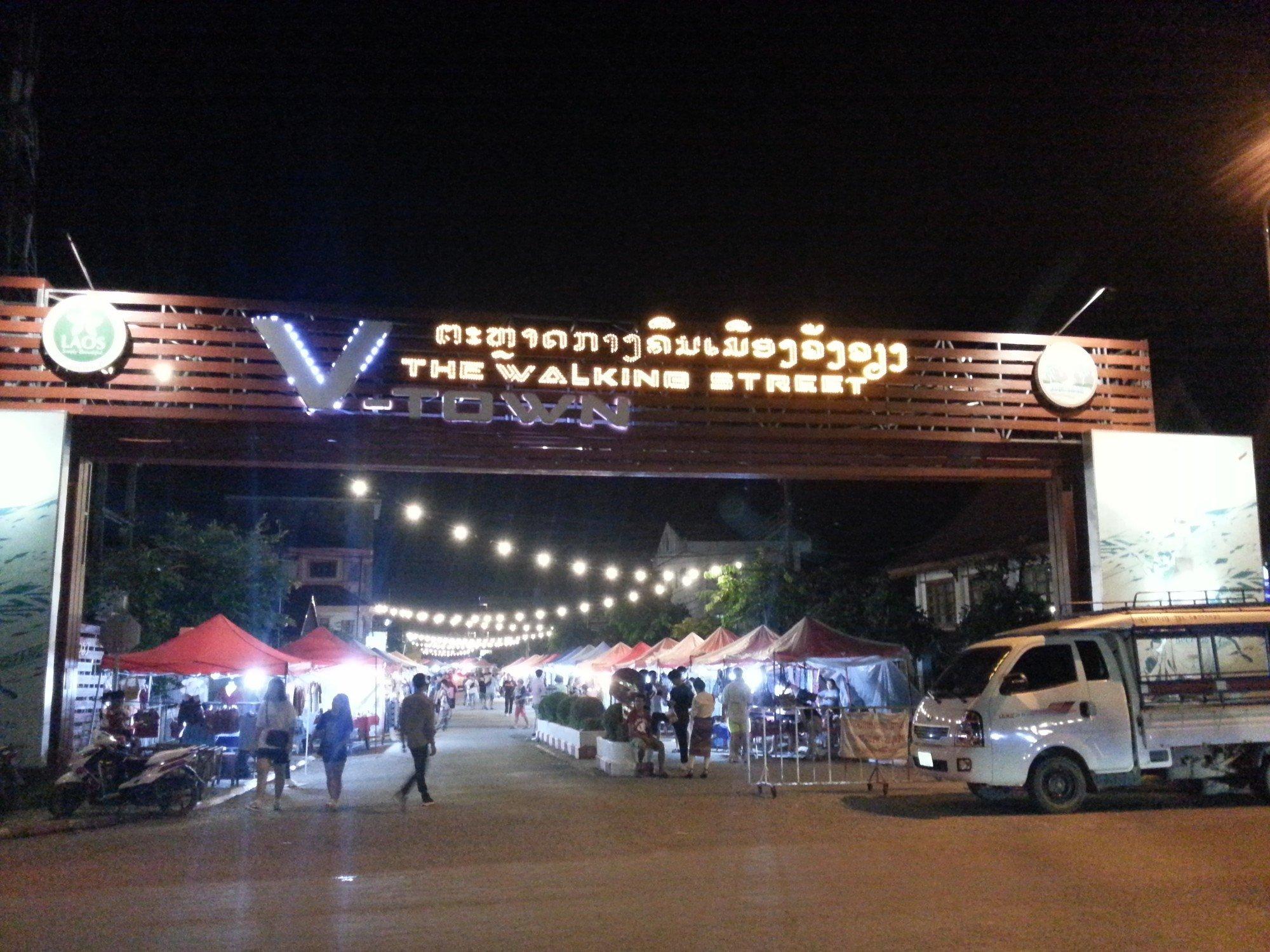 Walking Street in Vang Vieng