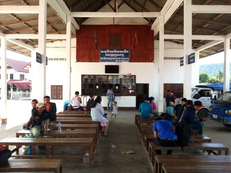Waiting area at Luang Prabang Northern Bus Station