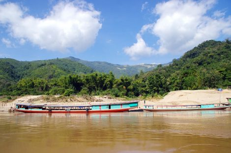 River boats in Huay Xai