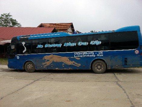 Luang Prabang to Hue bus at the Tourist Bus and International Bus Station