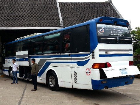 Luang Prabang to Loei bus at the Tourist Bus and International Bus Station