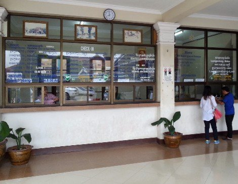 Ticket counter at Tourist Bus and International Bus Station
