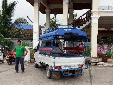 Tuk tuk at the Tourist Bus and International Bus Station