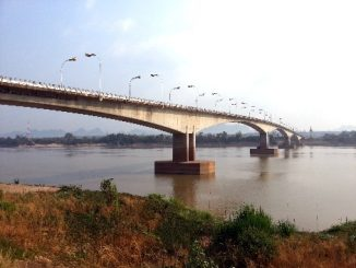 The Third Thai–Lao Friendship Bridge spans the Mekong River