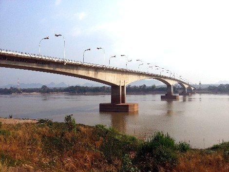 The Third Thai–Lao Friendship Bridge spans the Mekong River