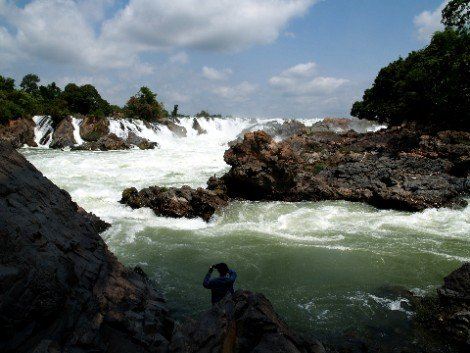 Khone Phapheng Falls in the 4,000 Islands region