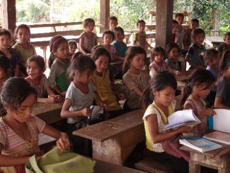 Primary school in rural Laos