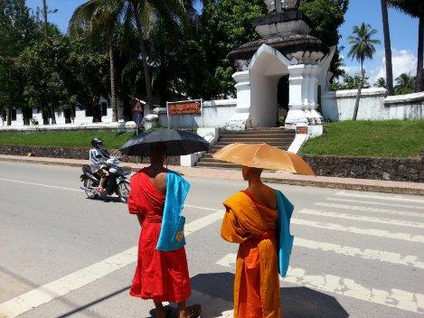 Buddhist monks in Luang Prabang in Laos