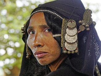Akha woman in traditional dress