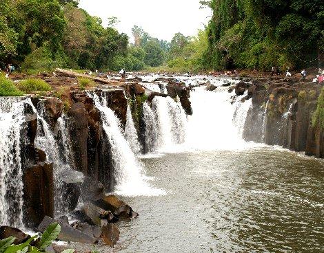 Tad Pha Suam Waterfall near Pakse on the Bolaven Plateau